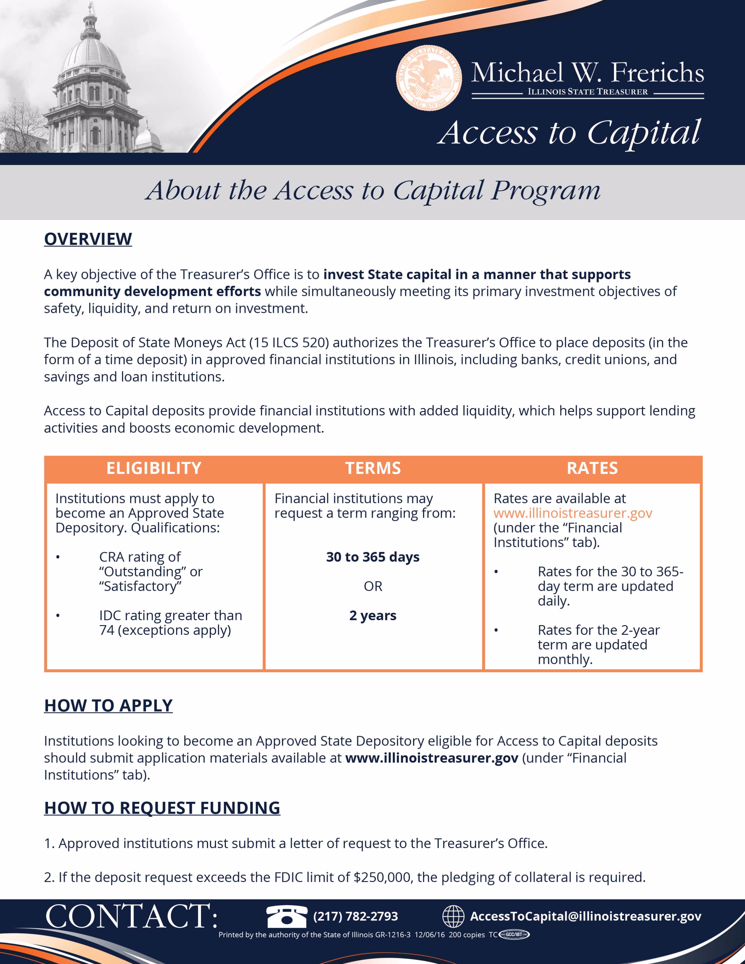 Access to Capital Flyer