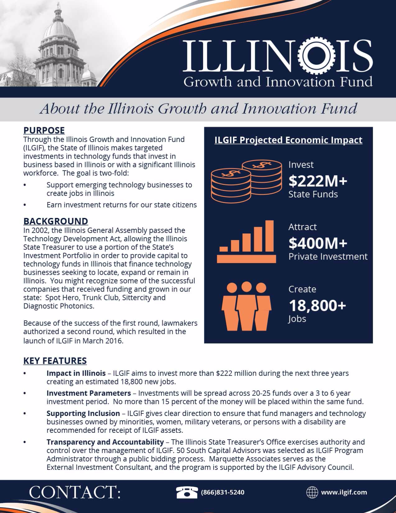 Illinois Growth and Innovation Fund Flyer