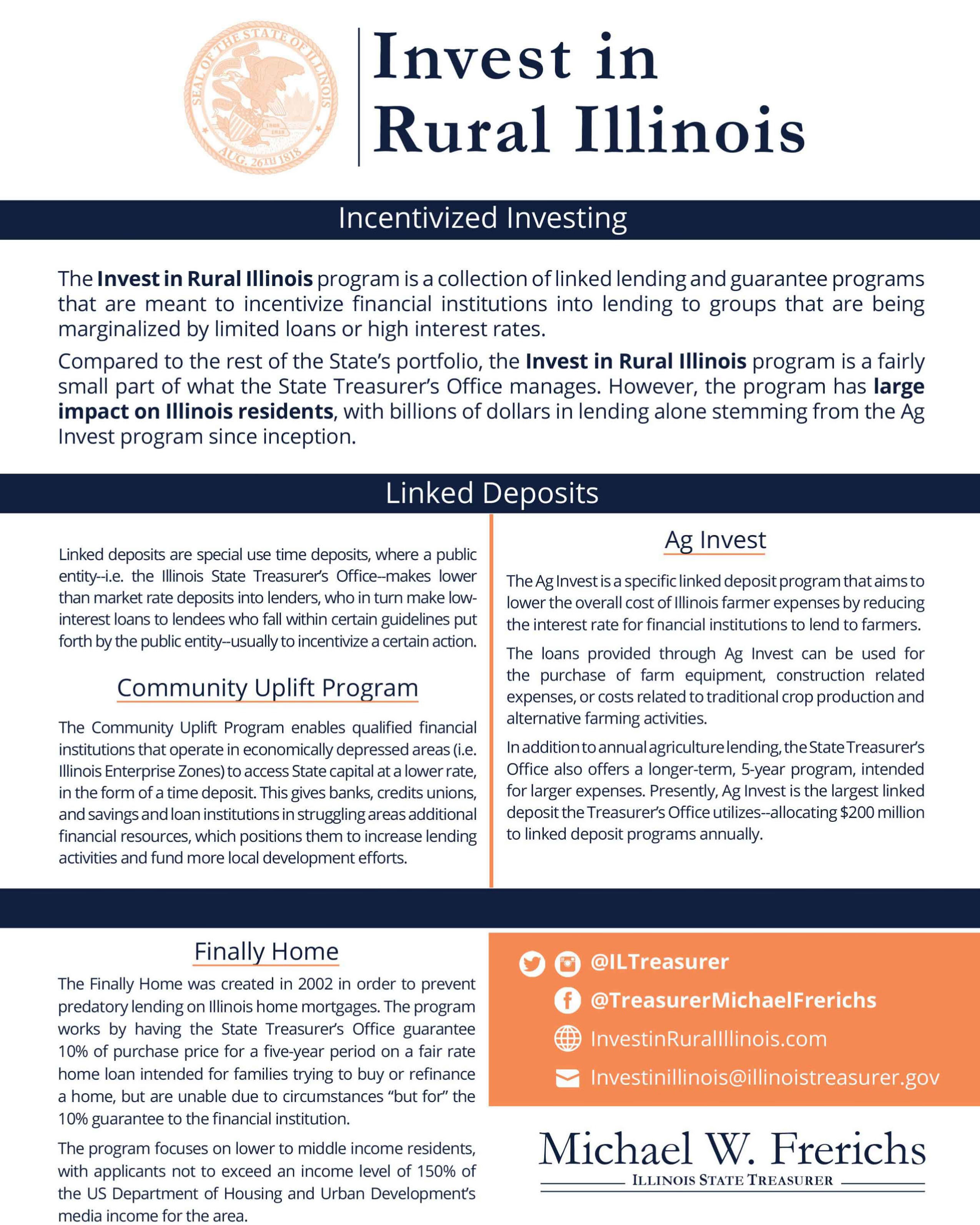 Invest in Rural Illinois Flyer
