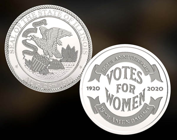 19th Amendment Commemorative Coin Sample Image of Face