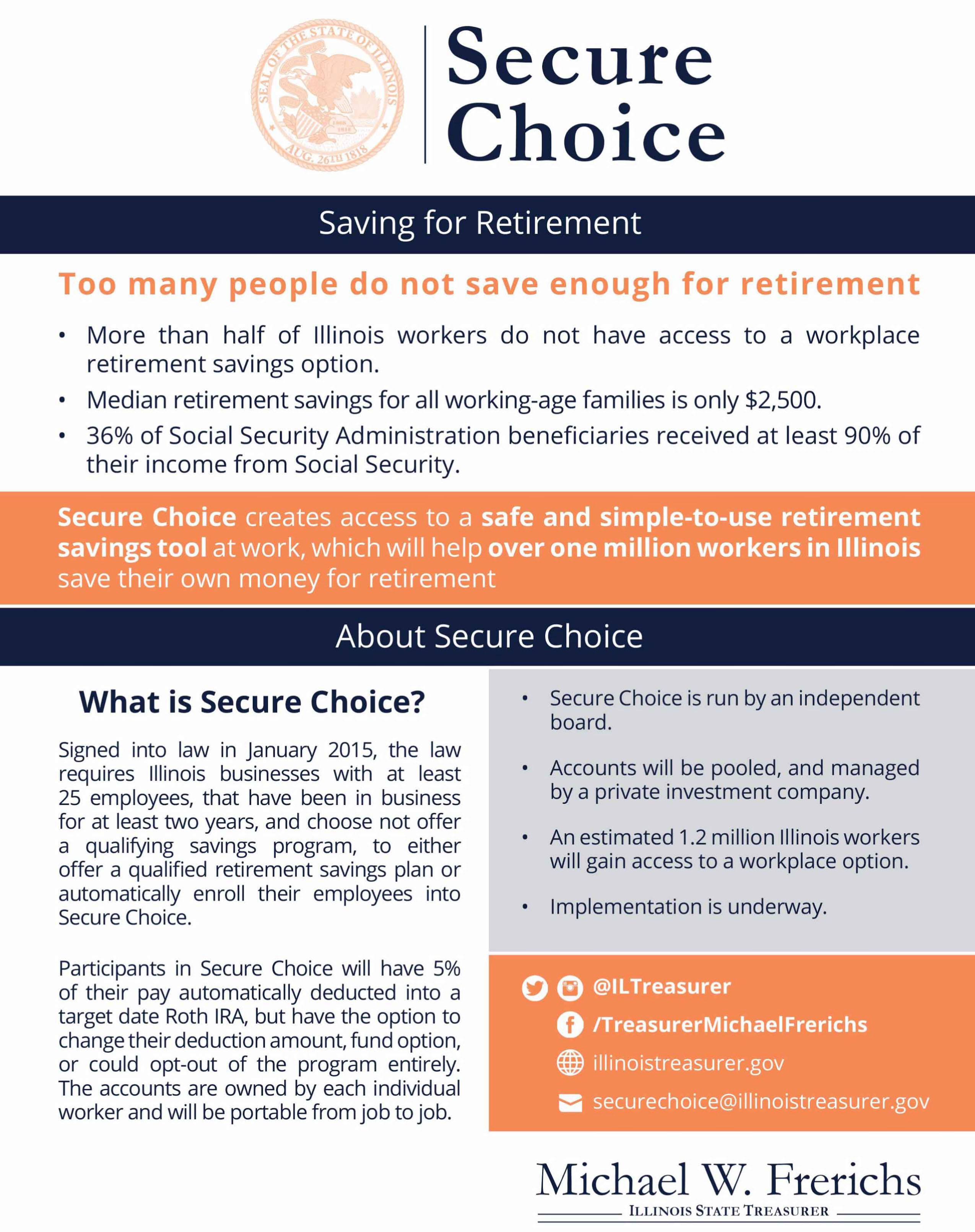 Secure Choice Program Flyer