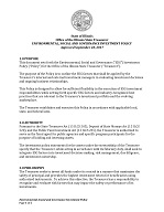 Treasurer's ESG Investment Policy
